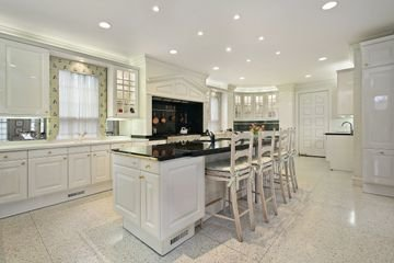 Kitchen with Limestone Floor