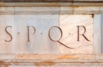 Trevertine SPQR Plaque